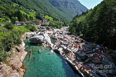 Waters Of Valle Verzasca  Poster