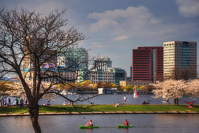 Watersports On The Charles River-boston Poster by Joann Vitali