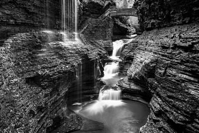 Watkins Glen Rainbow Falls #2 Poster by Stephen Stookey