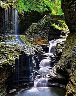 Watkins Rainbow Falls Poster by Frozen in Time Fine Art Photography
