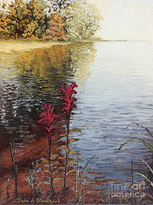 Poster featuring the painting Watts Bar Lake Rockwood Tn by Todd Blanchard