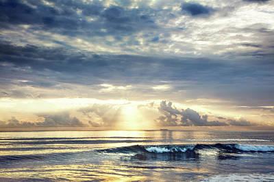 Wave At Dawn Poster