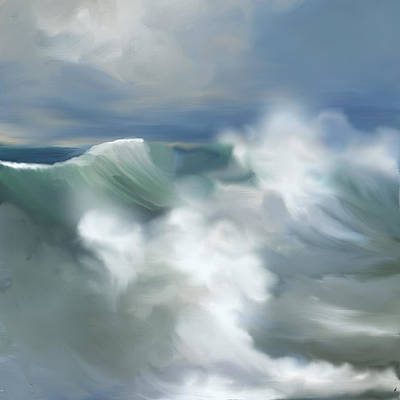 Wave Breakers Poster by Anthony Fishburne