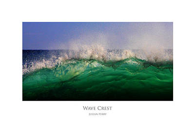 Poster featuring the digital art Wave Crest by Julian Perry