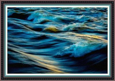 Wave Fantasia L B With Alt. Decorative Ornate Printed Frame. Poster by Gert J Rheeders