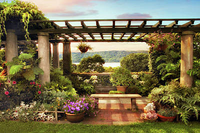 Wave Hill Pergola Poster by Jessica Jenney