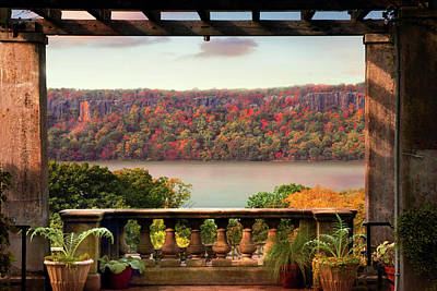Wave Hill Pergola View Poster