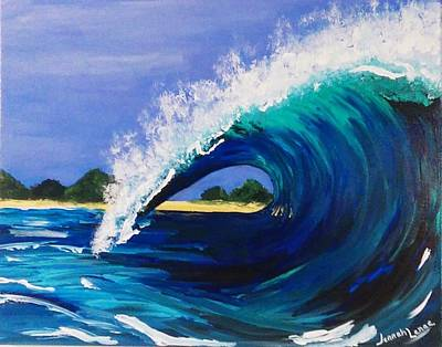 Poster featuring the painting Wave  by Jennah Lenae