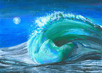 Wave Poster by Veronica Rickard