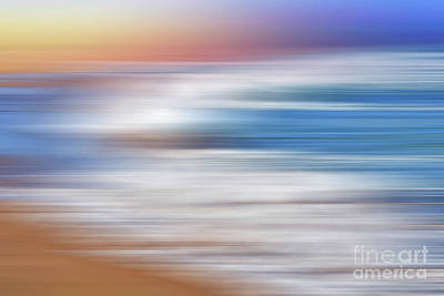 Waves Abstraction By Kaye Menner Poster