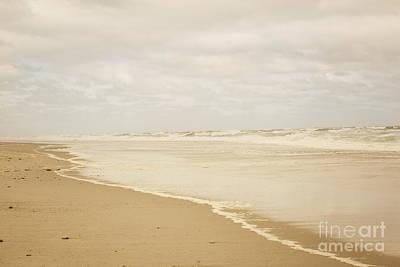 Waves Along The Shoreline Poster