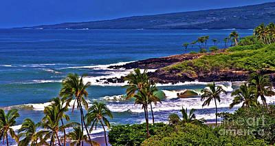 Waves Breaking At Hapuna Beach Poster