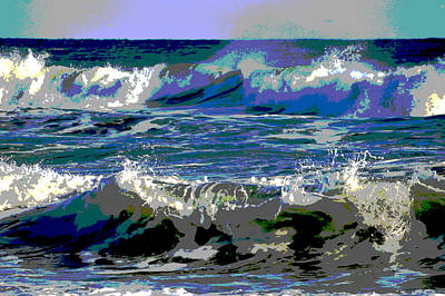 Waves Of Delight Poster by Dianne Cowen