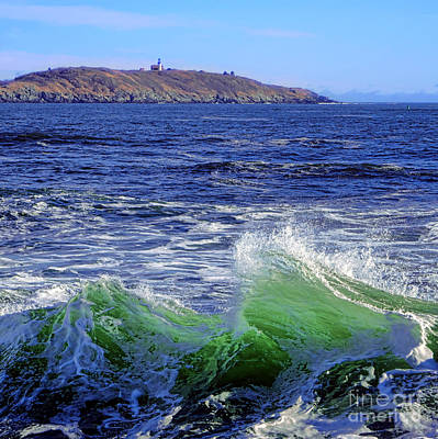 Waves Off Seguin Island Poster