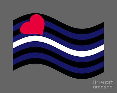 Waving Leather Flag Poster by Frederick Holiday