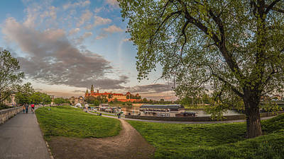 Wawel Royal Castle Seen From Vistula Bank In 16x9 Poster by Julis Simo