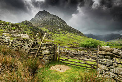 Way To Tryfan Mountain Poster by Adrian Evans