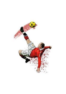 Wayne Rooney Poster by Armaan Sandhu