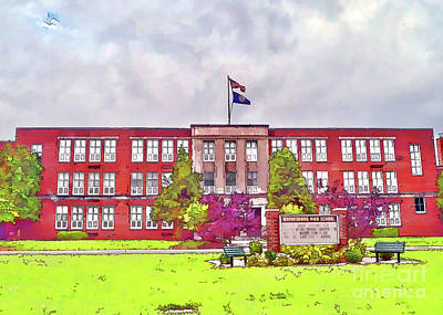 Poster featuring the photograph Waynesboro Virginia High School by Kerri Farley