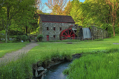 Poster featuring the photograph Wayside Inn Grist Mill by Juergen Roth