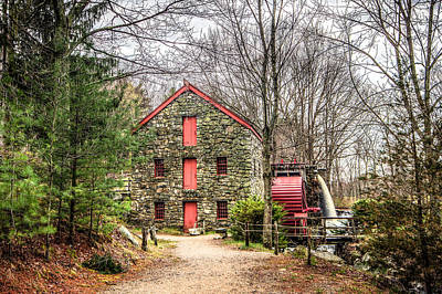 Wayside Inn Grist Mill Poster by Monica Wellman