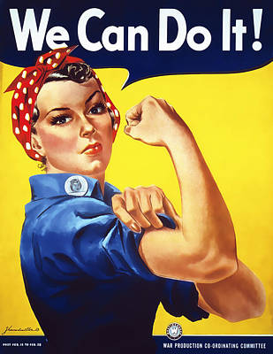 We Can Do It  1942 Poster by Daniel Hagerman