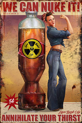 Poster featuring the digital art We Can Nuke It by Steve Goad