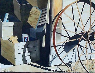 We Left The Barn Door Open Poster by Jim Gerkin