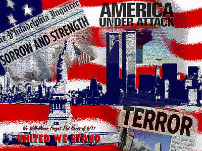 We Will Not Forget United We Stand Poster