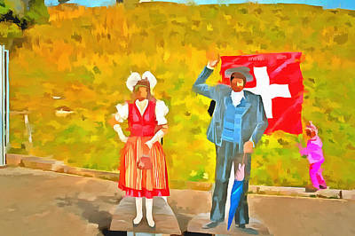 Wearing Swiss Traditional Costumes Poster by Ashish Agarwal