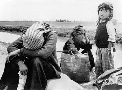 Weary Vietnamese Refugees Poster
