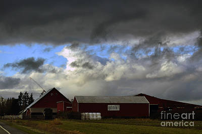 Weather Threatening The Farm Poster