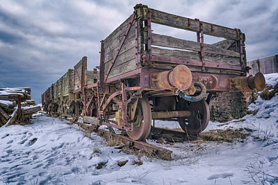 Weathered Coal Carts Poster by Stewart Scott