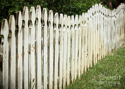 Poster featuring the photograph Weathered Fence by Todd Blanchard