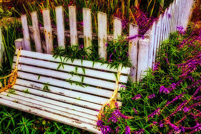 Weathered Garden Bench Poster