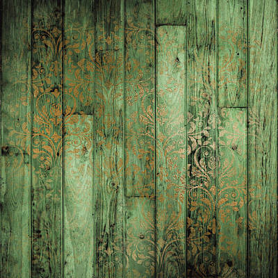 Weathered In Olive Green Poster by Lucy Chiffon
