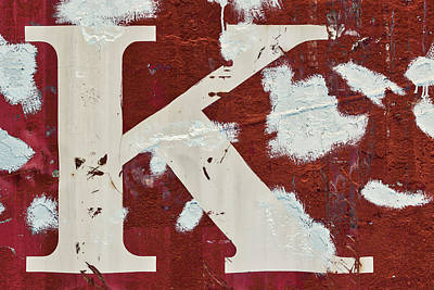 Weathered Letter K Poster by Carol Leigh