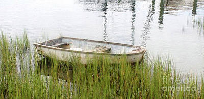 Weathered Old Skiff - The Outer Banks Of North Carolina Poster