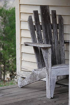 Poster featuring the photograph Weathered Porch Chair by Debbie Karnes