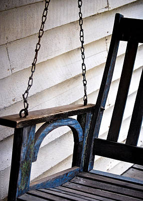 Poster featuring the photograph Weathered Porch Swing by Debbie Karnes