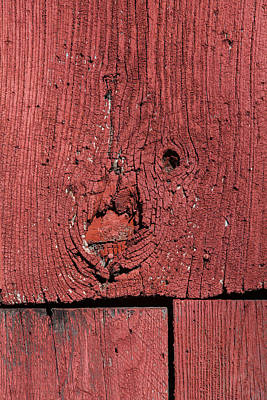 Weathered Red Barn Wood  Poster