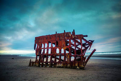 Weathered Rusting Shipwreck Poster