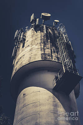Weathered Water Tower Poster