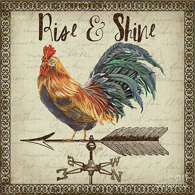 Weathervane Rooster-jp3772 Poster by Jean Plout