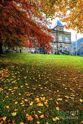 Webster County Courthouse Autumn Poster