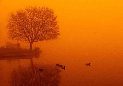Webster Lake Sunrise Poster by Michael L Kimble