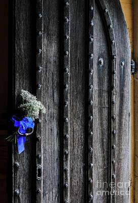Wedding Door In Appleby Magna Poster