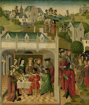 Wedding Feast Of Saint Elizabeth Of Hungary And Louis Of Thuringia In The Wartburg Poster