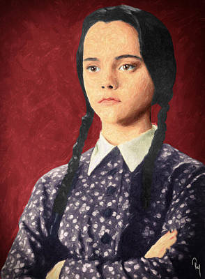 Wednesday Addams Poster by Taylan Apukovska