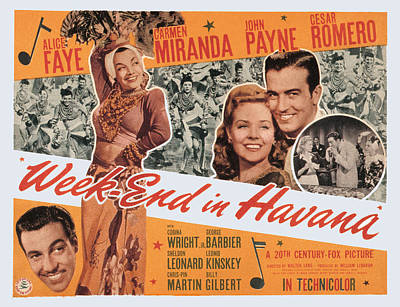 Week-end In Havana, Cesar Romero Poster by Everett